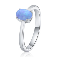 Poliva wholesale engagement russian women jewelry 925 silver opal ring