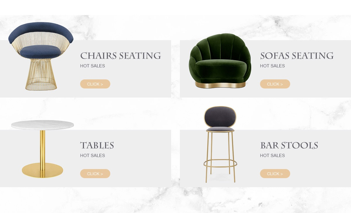 Foshan Tiange Furniture Co Ltd Brass Chairs Seating Gold Tables # Duartee Muebles