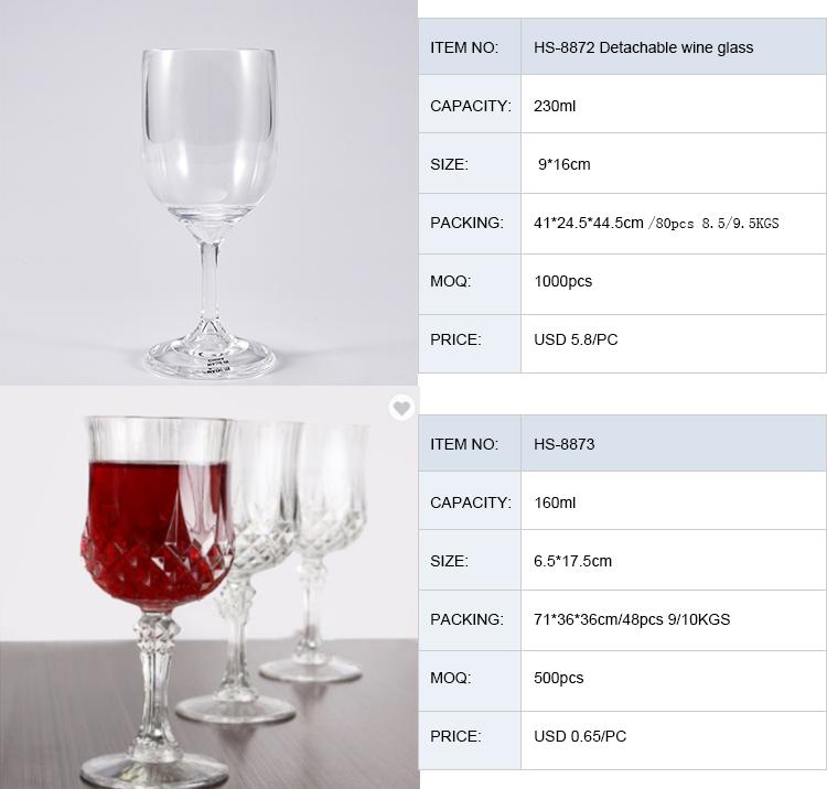 7 oz Pha Lê Không Thể Phá Vỡ Tính Năng Bền Vui Vẻ Gốc Nhựa Cocktail Thủy Tinh