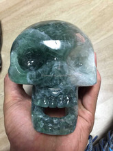 Factory customize fluorite crystal skull artificial crafts fashion hot sell/rock artifical crystal skull carvings
