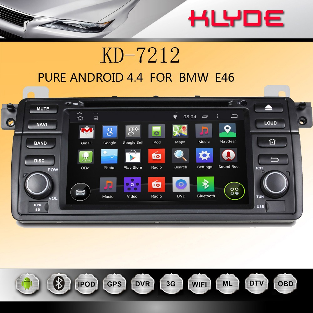 New Year's promotions e46 android 4.4.2 car dvd with gps many models in stock timely delivery
