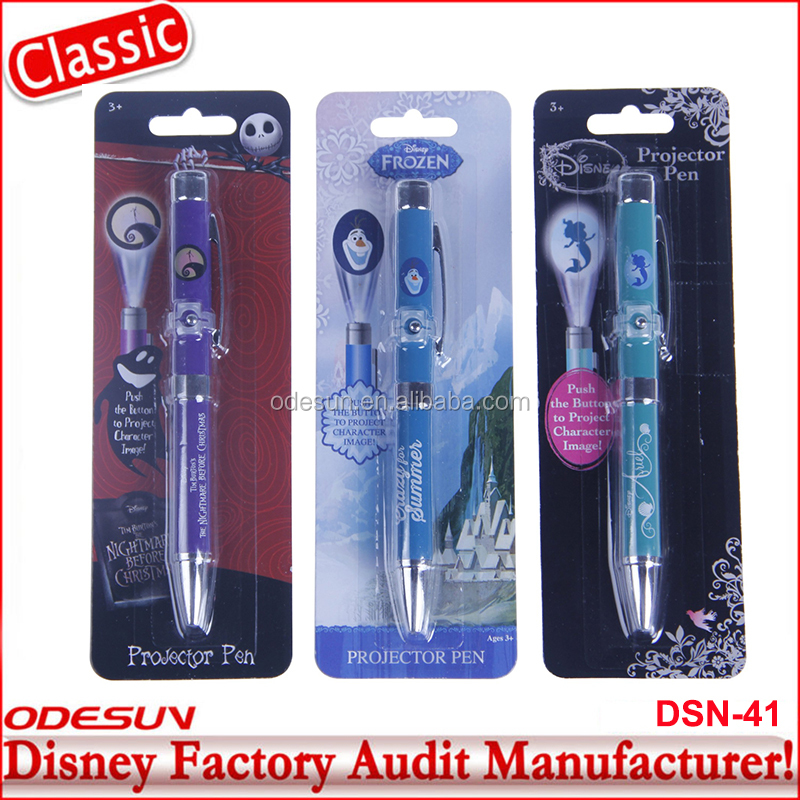 Disney Universal BSCI Carrefour Factory Audit Kungfu Panada Frozen Projector Ball Pen Stationery Set 25