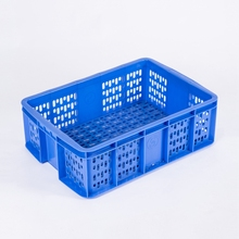 No. 25 Vented Crate Mesh Design Rodman SGS Stackable Food HDPE Plastic Container for Sale