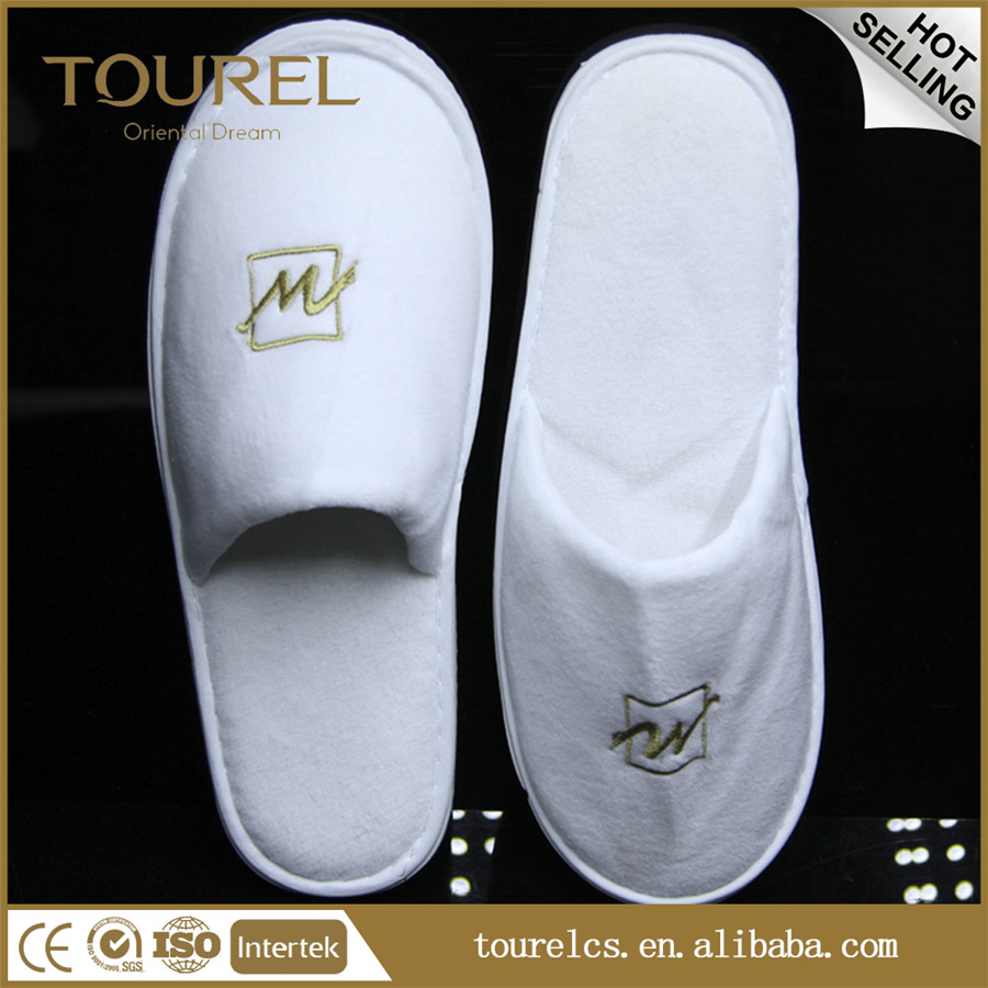 top quality custom washable hotel slippers
