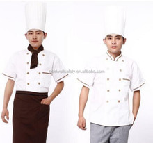 Unisex T/C restaurant obers workwear <span class=keywords><strong>chef</strong></span> uniform