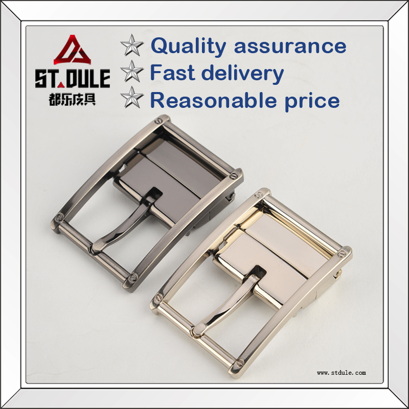 Zinc alloy pin blet buckle with screw wholesale
