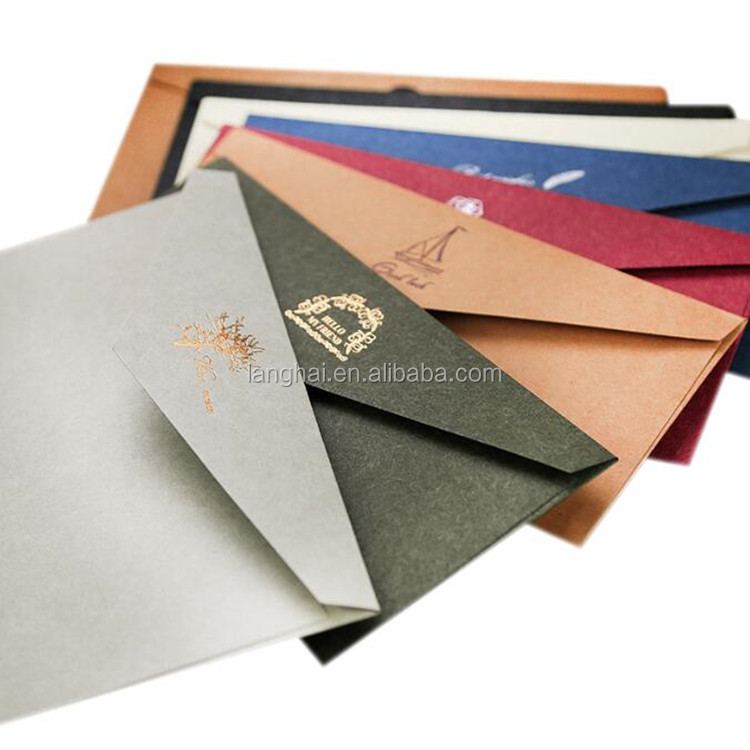 Durable Custom Size Offset Hot Stamping Top Rated Paper Envelope / 2017 New Arrival Top Rated Recyclable Craft Paper Envelope