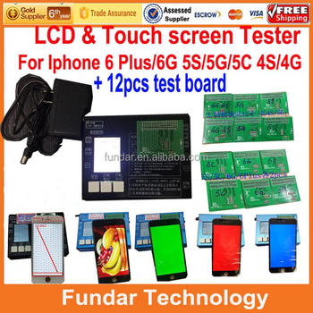 For iPhone 6 6Plus 4g 4s 5 5s 5c LCD Tester Machine 7 in 1 LCD and Touch Screen Metal Testing Frame dhl free
