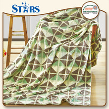 GS-CFBP014 Fashion Design polyester coral life comfort fleece blanket