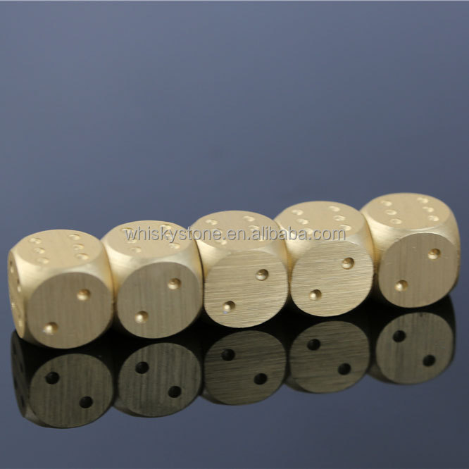 Gold color Dice Type metal dice set with long box