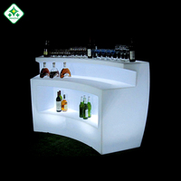 led DJ bar counter MOBILE COCKTAIL BAR / Rechargeable LED Beach Event Club Outdoor Bar Counter