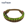 Wholesales 12GA Canvas and genuine Leather Hunting ammo shell holder cartridge Belt