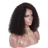 Wholesale best quality natural hairline part anywhere virgin human hair short curly bob lace front wigs