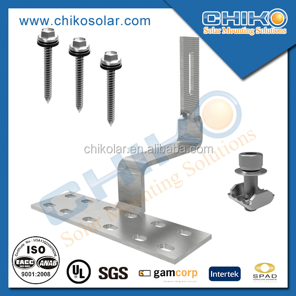 USA tile roof hook for solar pv mounting solar energy system