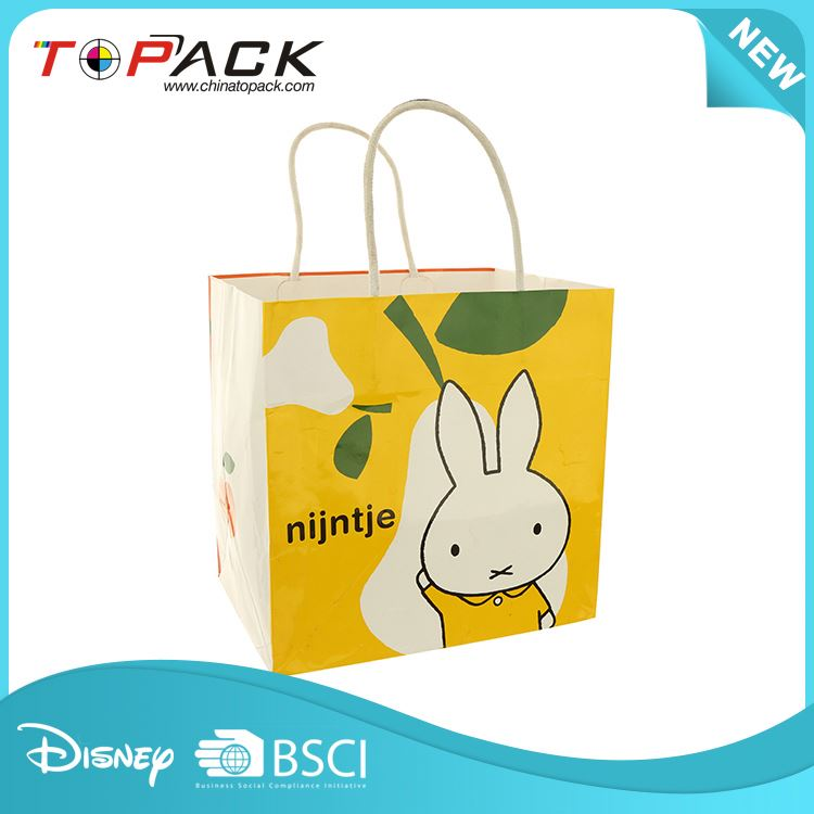 Factory sale unique design beautiful cartoon rabbit paper bag