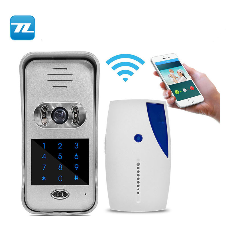Alibaba hot sales Smart Wireless Video Door Phone Home IP Intercom Wifi Doorbell Camera Wifi Door Bell With Camera TL-WF02