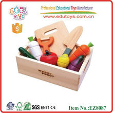 wooden pretend toy magnetism food cutting toys