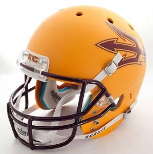 ARIZONA STATE SUN DEVILS Schutt AiR XP Authentic GAMEDAY Football Helmet ASU (MATTE YELLOW)