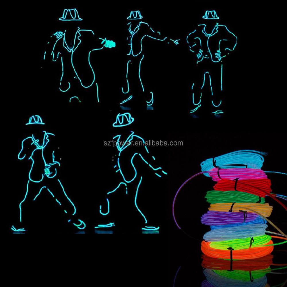 3m Flexible Neon Light Glow El Wire Rope Tube Car Dance Party ...