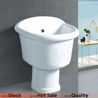 AS-103 Ceramic Sanitary Ware Floor Mounted Mop Basin, Mop Sink