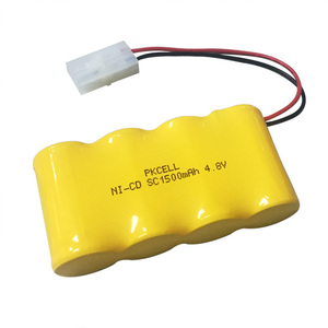 1500mah rechargeable ni cd sc1500 4.8v/ 3.6v/ 2.4v/ 1.2v ni-cd sc battery pack
