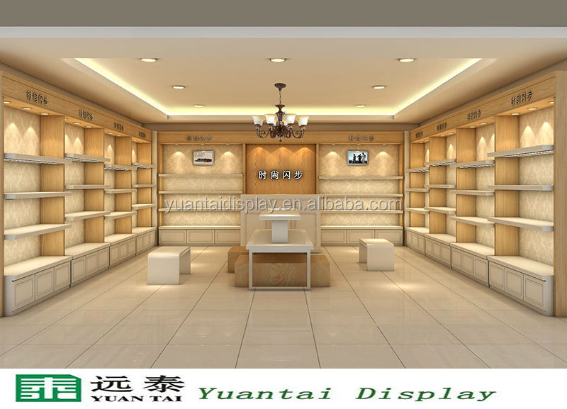Fashion Wooden Display Cabinet Furniture For Shoe Retail