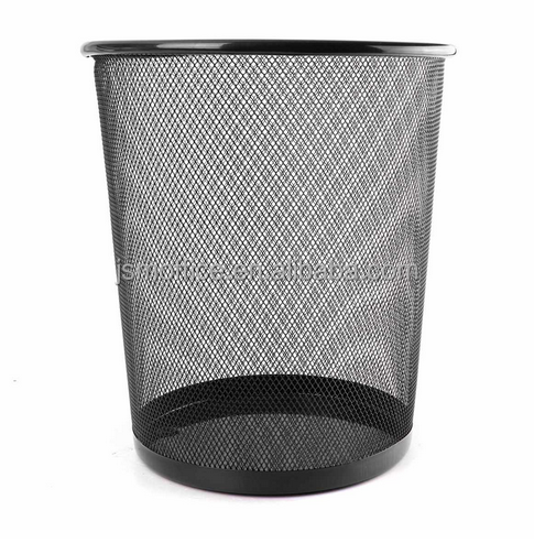 Metal Mesh Round Recyclable Bedroom Office Paper dustbin Waste Bin