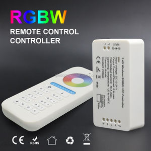 Gledopto RGBW led strip controller RGB strip controller work for DC12-24v led lights 6-zone remote press type