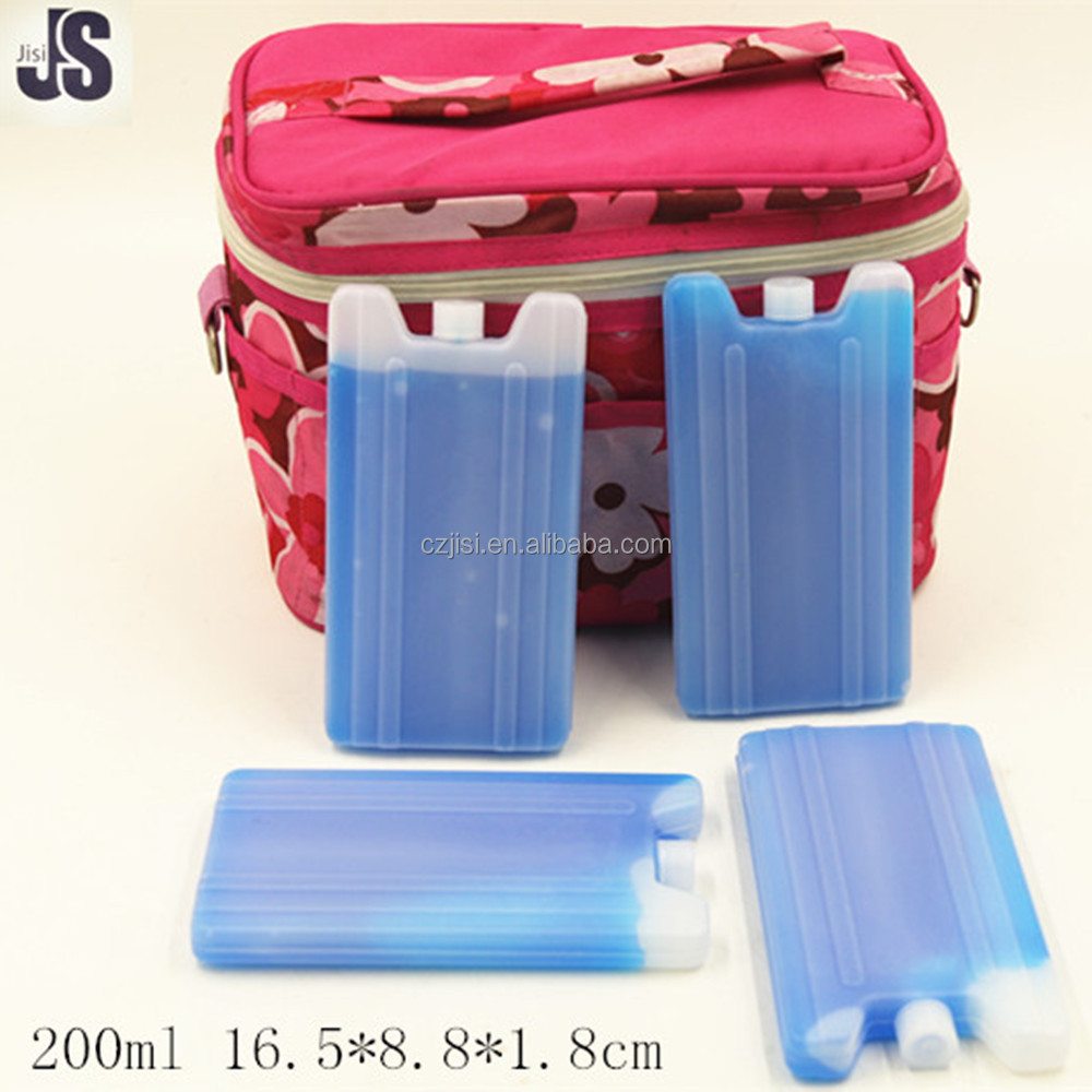 No-toxic plastic reusable freezer ice gel box for food,drink cooling