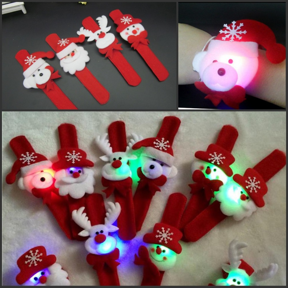 WholeSale Stock Small Order <strong>Christmas</strong> Supplies Children Gift Clap LED Ring Bracelet