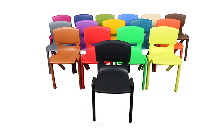34cm stackable colorful school home plastic chair for children