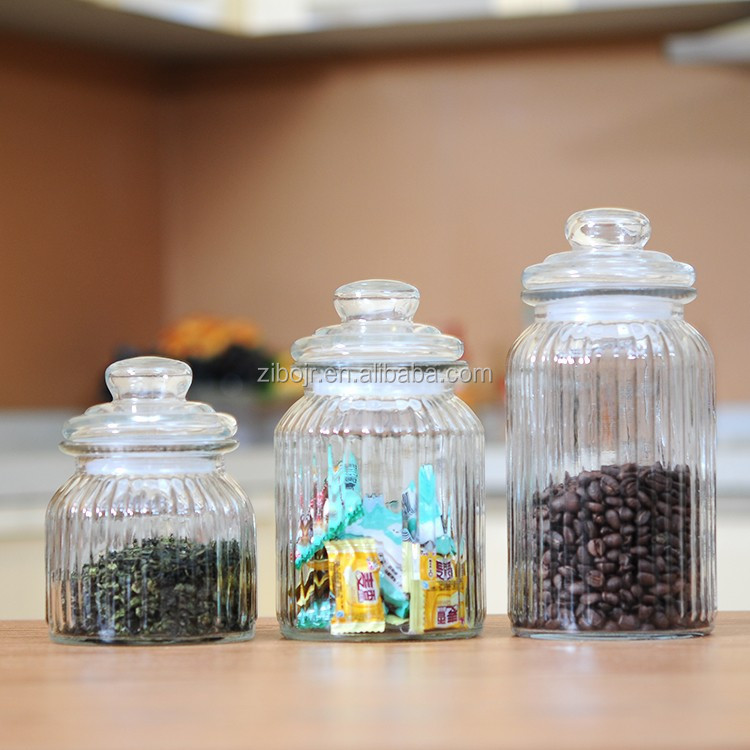 2015 New China wholesale air-tight glass canister with lid