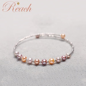 Fashion High Luster AAA 4-5mm Nearly Round Freshwater Pearl Bracelet