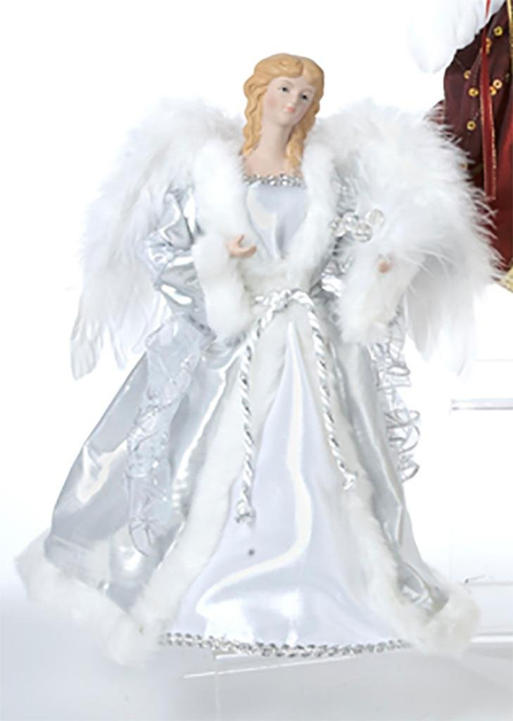 get quotations holiday angel christmas tree topper top 12 silver white blonde hair - Angel Hair Christmas