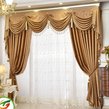 Church Curtains With Valance European High Grade Luxury