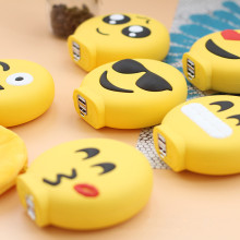 Popular Emoji Power Bank4000mAh Cute Funny Cartoon External Battery