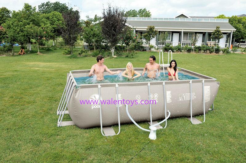 moldura retangular piscinas bestway piscina arma o de metal conjunto retangular piscinas e. Black Bedroom Furniture Sets. Home Design Ideas