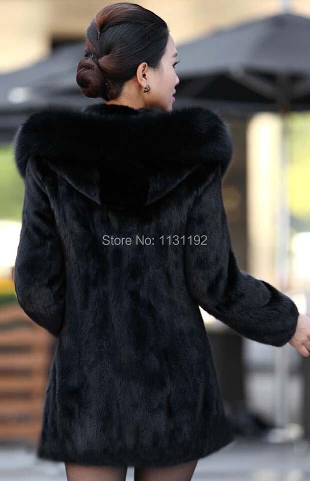 2015 новый популярный пальто женской кролика длинное верхняя одежда пальто искусственного меха пальто с капюшоном воротник лиса зима женский пиджак
