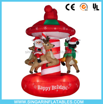 6ft Tall Outdoor Christmas Carousel With Mickey Mouse And Minnie ...