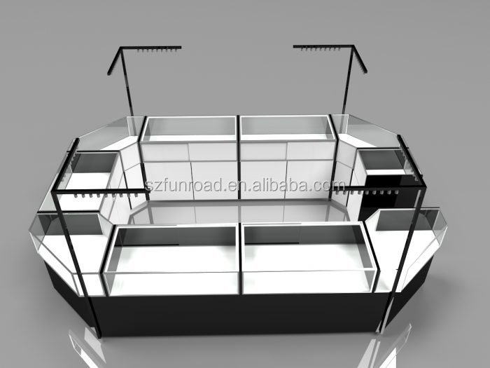 Elegant good quality glass jewellery display cabinet / glass cabinet for jewelry kiosk
