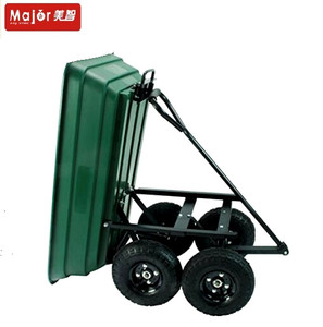 Dumping type poly four wheel children garden wagon for kids