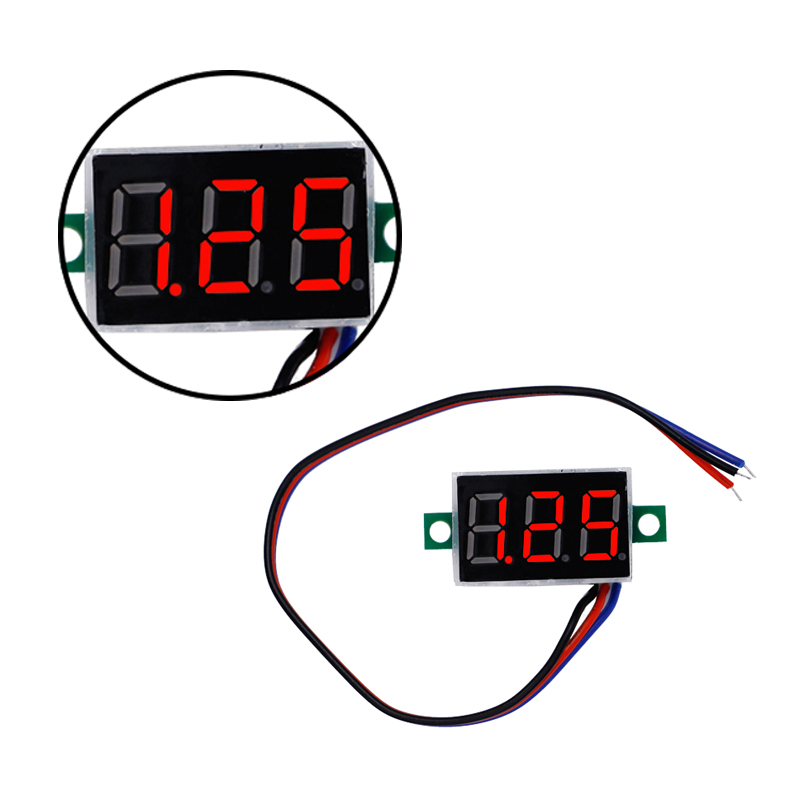 Red LED Display Mini 0.36 inch DC 0-100V Digital Voltmeter 100V Volt Panel Indicator Monitor Voltage Meter 40%off