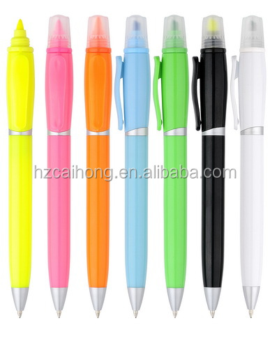 Most popular promotional Ballpoint Pen with Highlighter CH-6252 new products on china market double ends highlighter pen