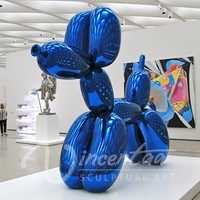 High quality stainless steel pink balloon dog sculpture