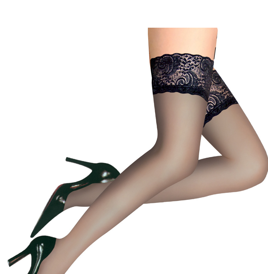 ed24a7872 Get Quotations · 5Colour Women Sexy wide Lace Top Sheer Thigh High Over the  knee nylon stockings socks hosiery