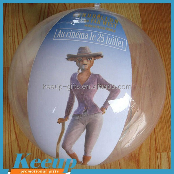 Logo Products Giant Inflatable Clear Beach Ball