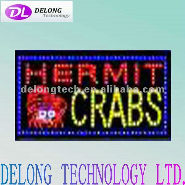 CE RoHS 12X24inch acrylic LED HERMIT CRABS chasing led electronic message board