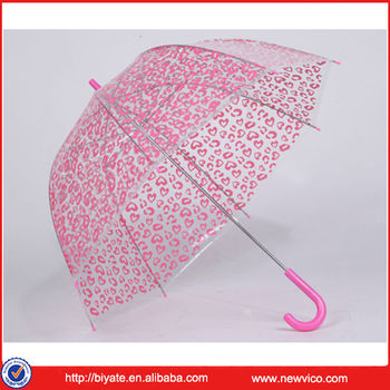 Transparent clear dome kid umbrella