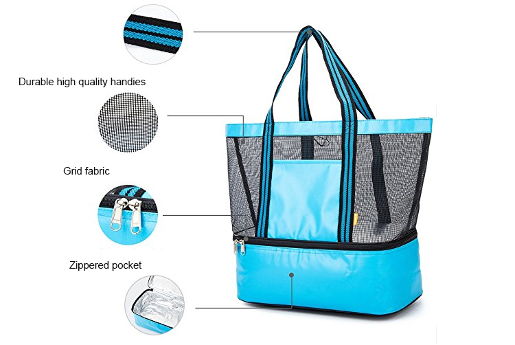 Insulated Shopping Tote Beach Cooler Bags for Food