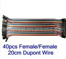 DuPont Hook up Cable wire Rainbow Ribbon of Wires Female Female